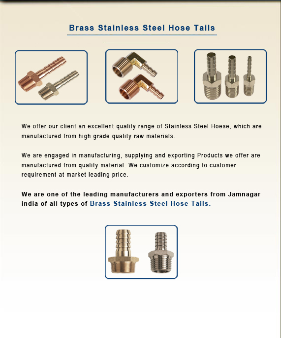 Brass Stainless Steel Hose Tails
